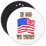 En dios confiamos en el botón de la bandera americ pin
