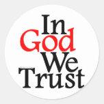 En DIOS confiamos en Etiqueta Redonda