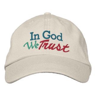 EN DIOS confiamos en - llévelo con orgullo Gorras De Béisbol Bordadas