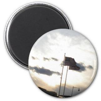 En dios confiamos en los imanes de la bandera amer imanes para frigoríficos