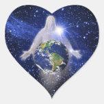 En dios confiamos en pegatina corazón