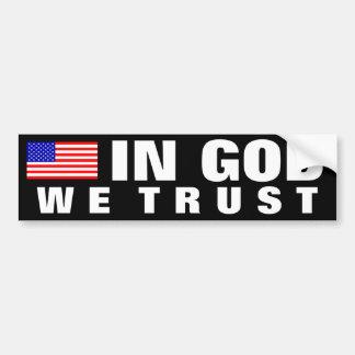 En dios confiamos en pegatina para auto