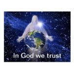 En dios confiamos en tarjetas postales