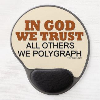 En dios confiamos en. ¡Todos los otros nosotros Alfombrilla De Raton Con Gel