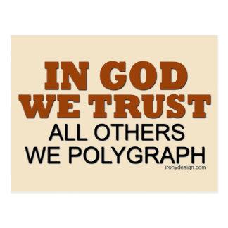 En dios confiamos en. ¡Todos los otros nosotros Tarjeta Postal