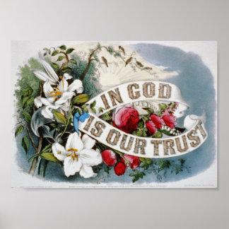 """""""En dios es la IMPRESIÓN de nuestra confianza"""" Póster"""