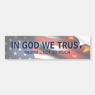 En dios no Obama Pegatina Para Auto
