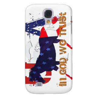 En dios nosotros caballo Confianza-Patriótico Funda Para Galaxy S4
