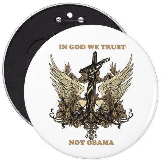 En dios nosotros Confianza-No Obama Pin