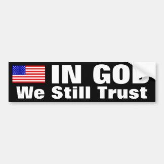 En dios todavía confiamos en pegatina para auto