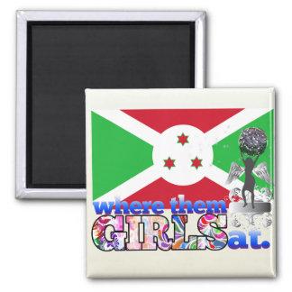 ¿En dónde ellos chicas burundeses? Imán De Frigorifico