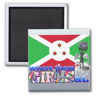 ¿En dónde ellos chicas burundeses? Imán Para Frigorífico