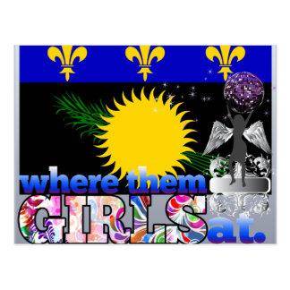 ¿En dónde ellos chicas de Guadeloupean? Postales