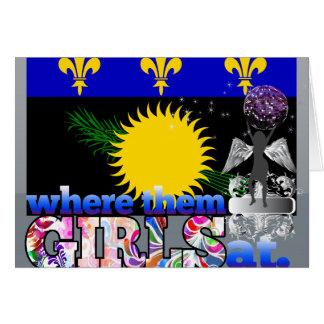 ¿En dónde ellos chicas de Guadeloupean Felicitacion