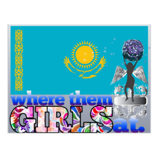¿En dónde ellos chicas de Kazakhstani? Postal