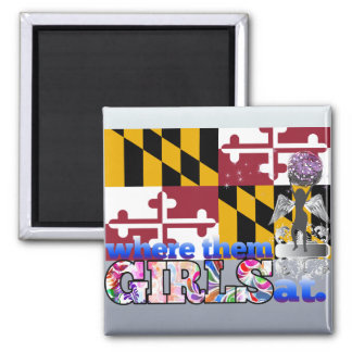 ¿En dónde ellos chicas de Marylander? Imán Para Frigorífico