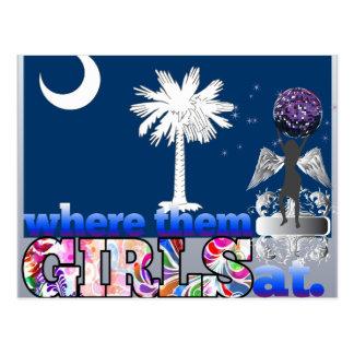 ¿En dónde ellos chicas del Carolinian del sur? Postales