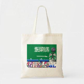 ¿En dónde ellos chicas del saudí? Bolsa Tela Barata