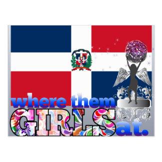 ¿En dónde ellos chicas dominicanos? Postales