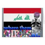 ¿En dónde ellos chicas iraquíes? Tarjeta