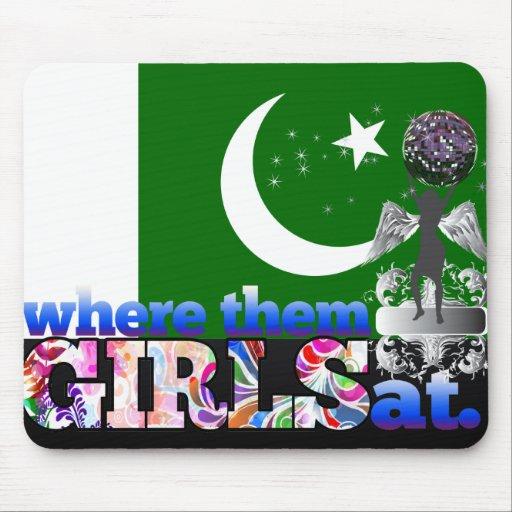 ¿En dónde ellos chicas paquistaníes? Alfombrilla De Raton