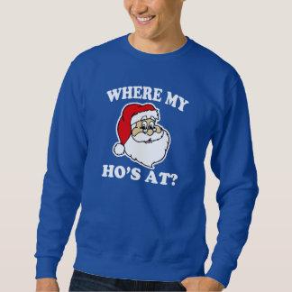 ¿En dónde mi Ho? suéter divertido del navidad de