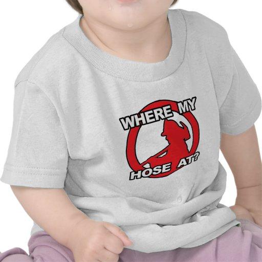 ¿En dónde mi manguera? Camisetas
