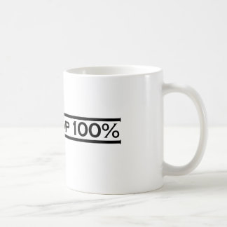 En el 100% superior taza básica blanca
