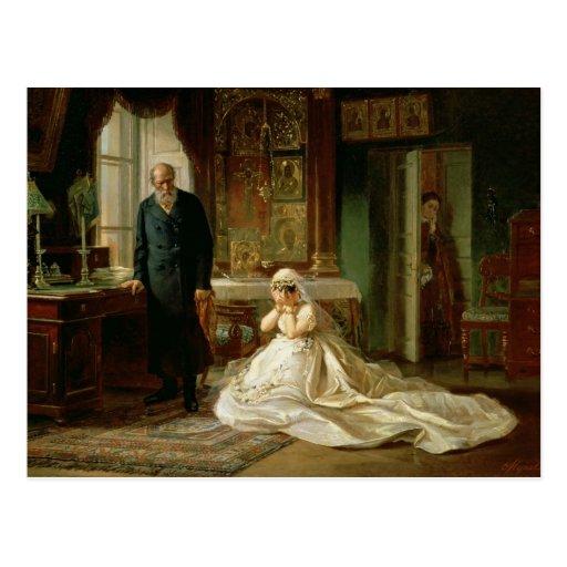 En el altar, 1870s tarjeta postal
