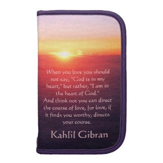 En el amor - el profeta de Kahlil Gibran Planificadores