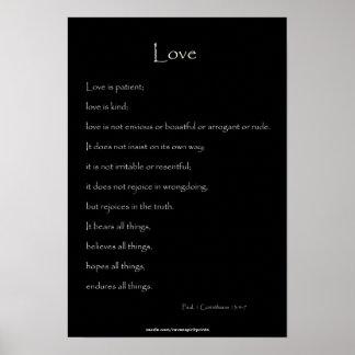 En el amor Paul, 1 13:4 de los Corinthians - cita  Impresiones