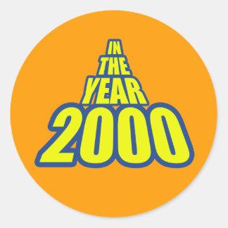 En el año-2000 pegatina redonda