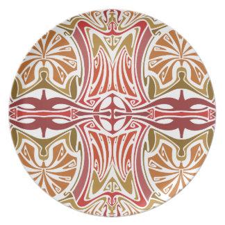 En el arte Nouveau del desierto Platos