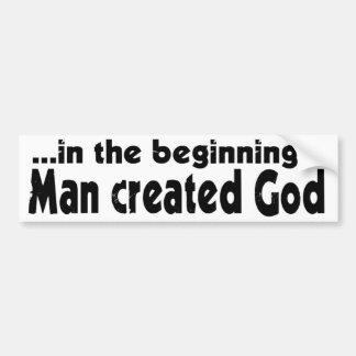 En el ateo del principio pegatina para auto