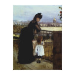 En el balcón de Berthe Morisot Lienzo Envuelto Para Galerías