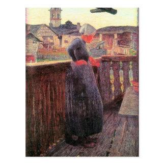 En el balcón de Giovanni Segantini Postales