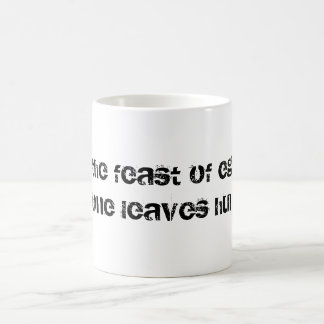 En el banquete del ego…. taza básica blanca