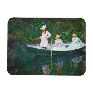 En el barco noruego en Giverny Claude Monet Imanes Rectangulares