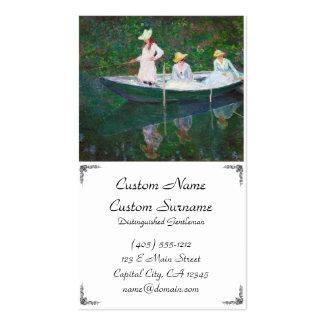 En el barco noruego en Giverny Claude Monet Tarjeta Personal