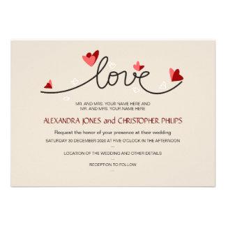 En el boda elegante simple del texto del amor
