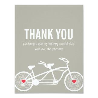 """En el boda gris de la bicicleta del amor gracias invitación 4.25"""" x 5.5"""""""