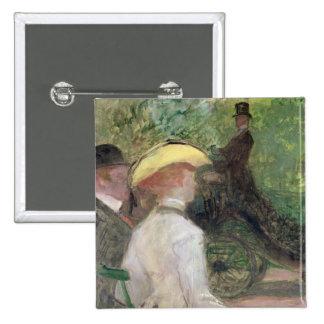 En el Bois de Boulogne, 1901 (aceite en lona) Pin Cuadrado