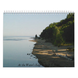 En el borde de las aguas de Scott S. Jones Calendario De Pared
