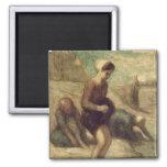 En el borde del agua, c.1849-53 iman de nevera