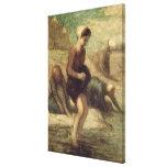 En el borde del agua, c.1849-53 lienzo envuelto para galerías