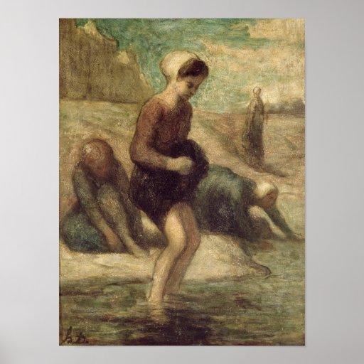En el borde del agua, c.1849-53 posters