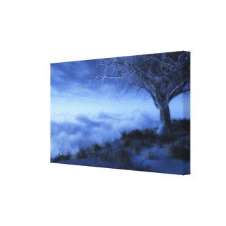 En el borde del mundo (invierno) impresión en lona estirada