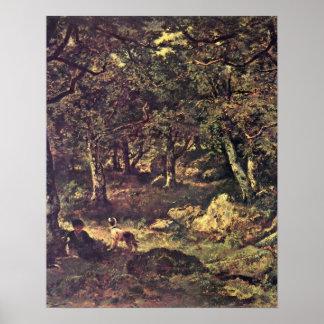 En el bosque de Díaz de la Pena, Narciso Virgile Póster