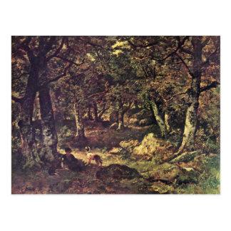 En el bosque de Díaz De La Peña Virgile-Narciso Postales