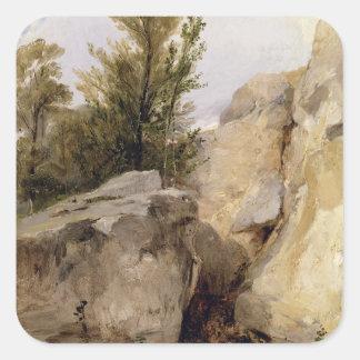 En el bosque de Fontainebleau, c.1825 (el aceite Calcomanías Cuadradass